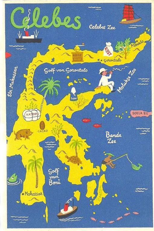 Peta Sumatra Jawa Sulawesi Tempo Doeloe Topik Warna Warni Iklan