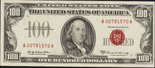 10. 1966 A - LEGAL TENDER NOTE (Read Seal)