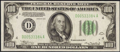 14. 1934 - FEDERAL RESERVE NOTE