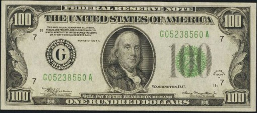 15. 1934 A - FEDERAL RESERVE NOTE