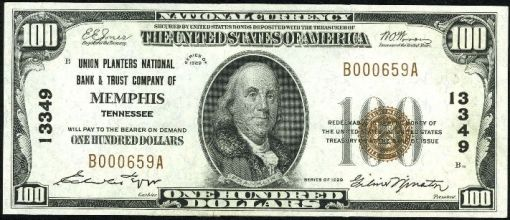 19. 1929- national bank note