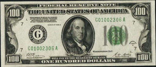 23. 1928 A - FEDERAL RESERVE NOTE