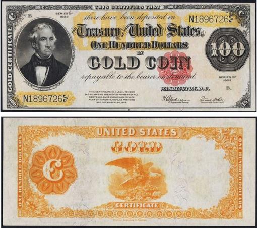 25. 1922 - GOLD SERTFICATE
