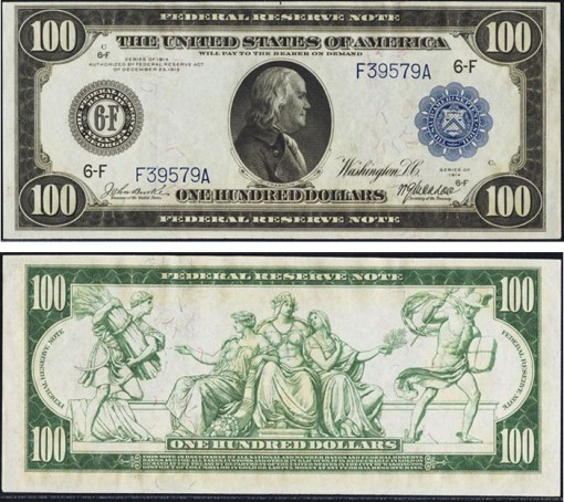 26. 1914 - FEDERAL RESERVE NOTE (BLUE SEAL)