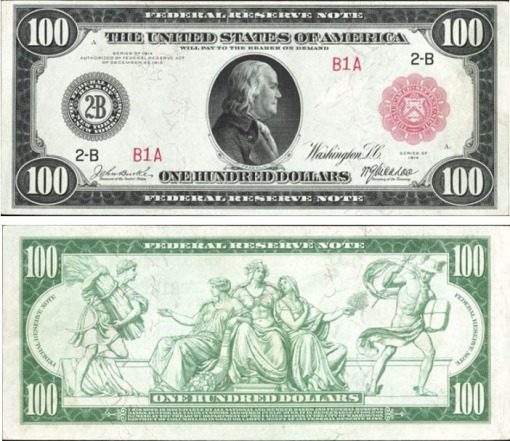 27. 1914 - FEDERAL RESERVE NOTE (RED SEAL)