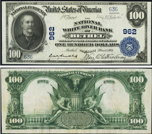 28. 1902 - BLUE SEAL NATIIONAL BANK NOTES