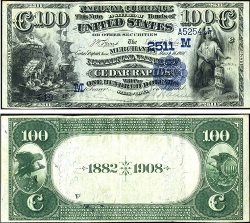 34. 1882 - DATE BACK NATIONAL BANK NOTES