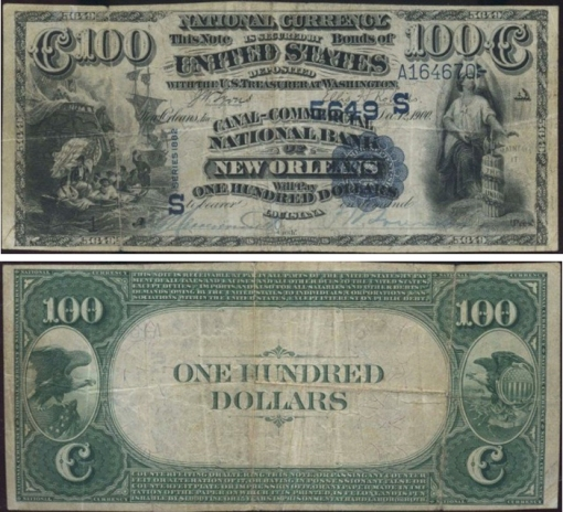 35. 1882 - VALUE BACKS NATIONAL BANK NOTES