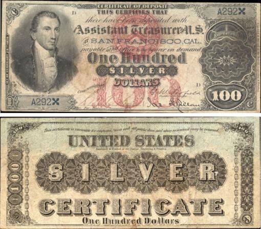 38. 1878 - SILVER CERTIFICATE