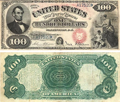 39. 1878 - LEGAL TENDER NOTES
