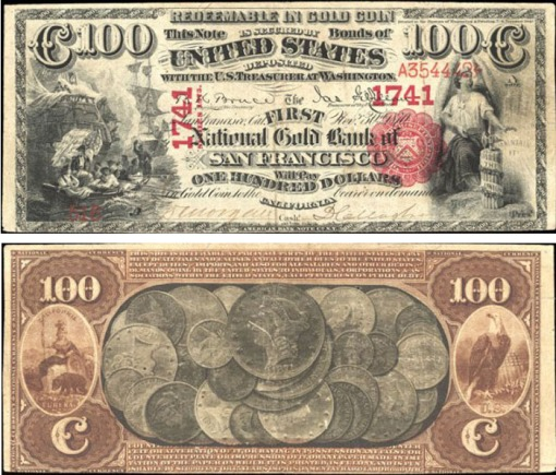 42. 1870 - 1875 National Gold Bank Note -