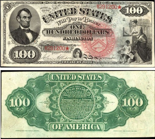 43. 1869 - LEGAL TENDER NOTE