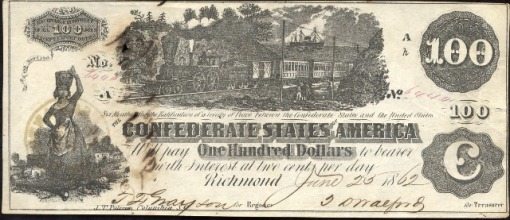 50. 1862 - Confederate Paper Money (Richmond)