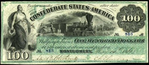 52. 1861 -  Confederate Paper Money (Montgomery)