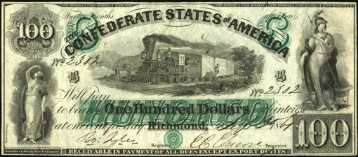 53. 1861 - CONFEDERATE PAPER MONEY (Richmond)