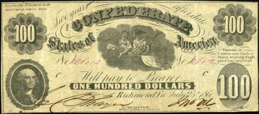 54. 1861 July 25 - Confederate Paper Money