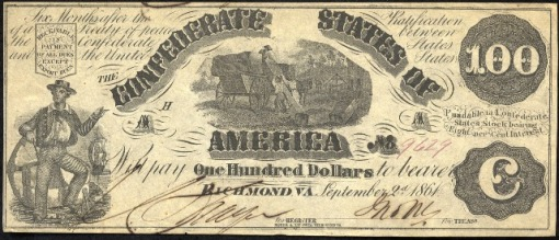 55. 1861 Sept. 2nd - Confederate Paper Money