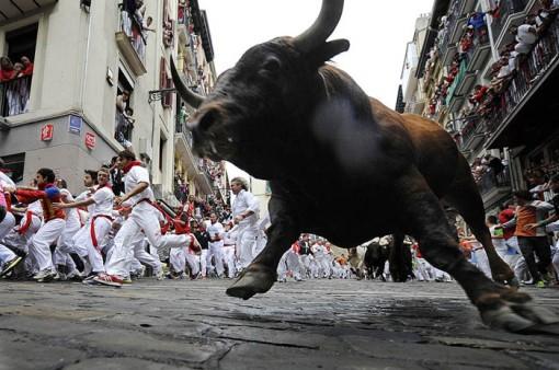 San Fermin festival: Cebada Gago bulls