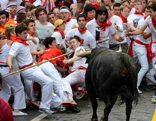 San Fermin festival: Bulls eye