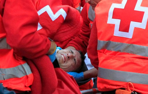San Fermin Festival: Injured Mozo
