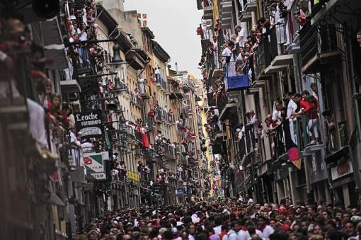 San Fermin festival: Crowded streets