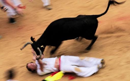 San Fermin festival: Dragged